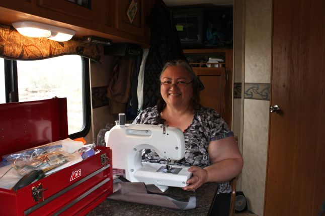 Sewing In Trailer